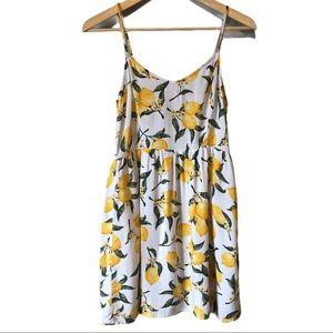 H & M   Divided lemon print cami dress
